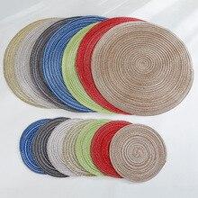 Coaster Placemats Linen Ramie Table-Mat Kitchen-Accessories Coasterhome-Decoration Non-Slip