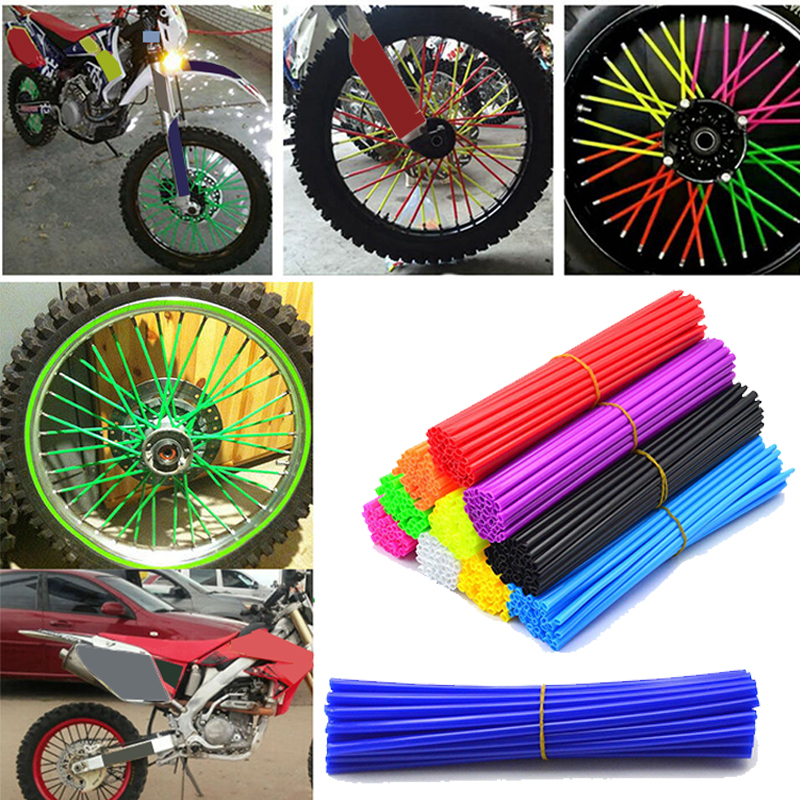 72Pcs/set Wheel Spoke Wraps Rims Skins Protector Covers  Bike Motorcycle Dirt Decoration Motocross Decor Motorbike Decoration|Bicycle Spoke| |  - title=