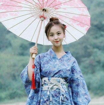Women Japanese Style Kimono Yukata Japanese Kimono Traditional Costume Female Dress Cosplay Ladies Yukata With Obi