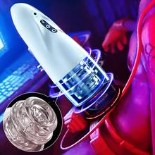 Automatic Male Masturbator Hands Free Stroker 10 adjustable frequencies Masturbator Cup Real Vagina Pocket Sex Toy for Men cheap Fanle CN(Origin) Plastic Masturbation Cup