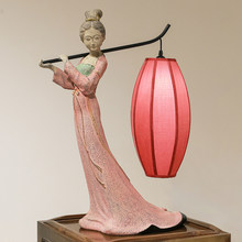 Classical Beauty Chinese Style Table Lamp Wedding Room Hotel Living Room Bedroom Bedside Red Creative Antique Table Lamp(China)