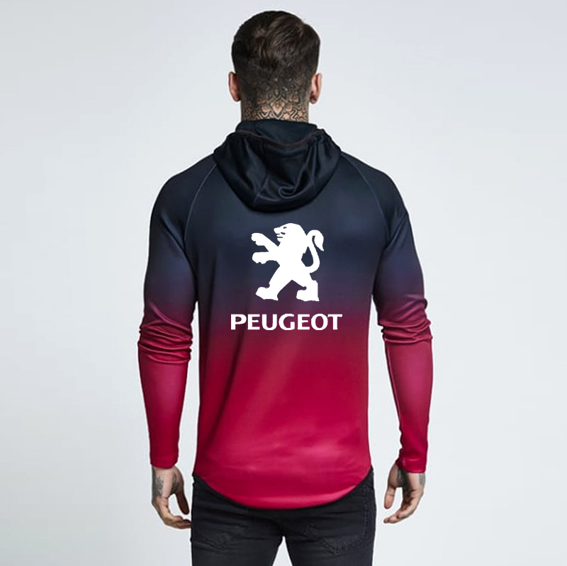 Jacket Hoodies Women Sweatshirt Long-Sleeve Gradient Peugeot Spring Zipper Fleece Autumn