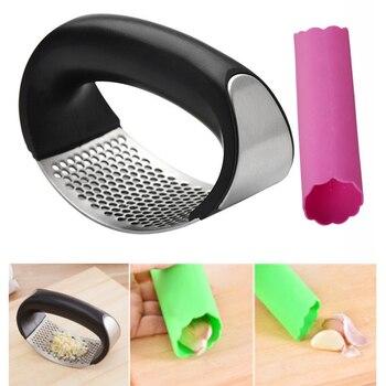 Presses à ail + éplucheur Presses à ail Gadgets de cuisine hachoir Cutter ail meulage cuisine outil à main