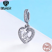 100% 925 Sterling Silver Women Charms CZ MOM Letter Beads Pendant fit Bracelet & Necklace Mother Gift Trendy Jewelry HSC789
