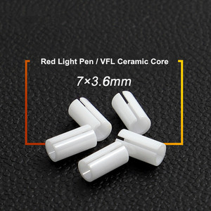 10 PCS TriBrer optical fiber Red light pen tip accessories test polishing pens VFL 7mm ceramic core ceramic sleeve