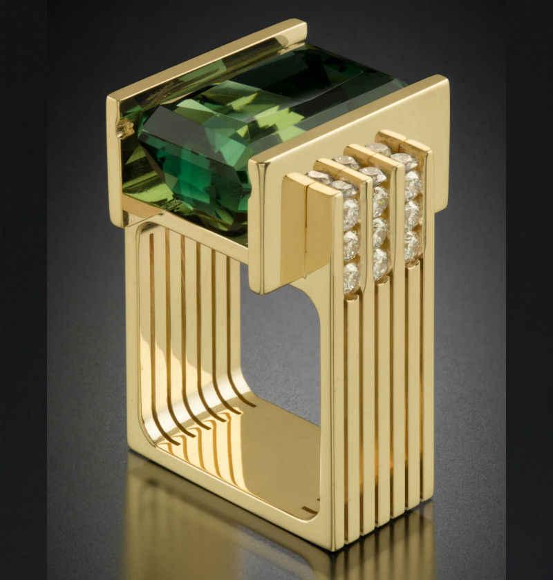 14K สีเหลืองทอง Emerald เครื่องประดับแหวนผู้หญิงรูปสี่เหลี่ยมผืนผ้าสีเขียว Topaz Emerald Anillos Bizuteria อัญมณี 14K ทองแฟชั่นแหวน