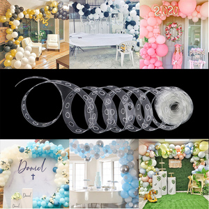 5m Latex Balloon Chain of Plastic Wedding Birthday Party Balloons Backdrop Decoration Ballon Chain Tape Arch Ballons Accessories