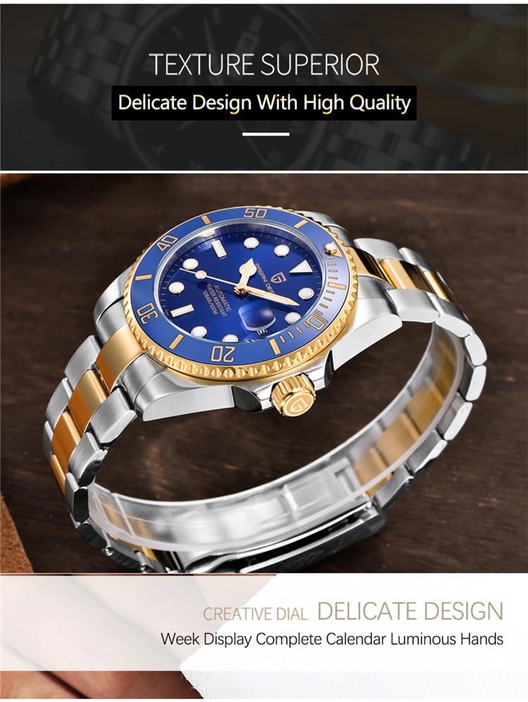 Hbf820dacaca244388e7d306c92f701d92 PAGANI Design Brand Luxury Men Watches Automatic Black Watch Men Stainless Steel Waterproof Business Sport Mechanical Wristwatch