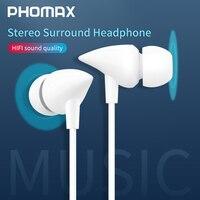 PHOMAX Bass Verdrahtete Kopfhörer 3,5 MM In-ohr Kopfhörer mit Mikrofon Hifi Hörer Headset für Telefon Xiaomi Samsung Huawei spiel