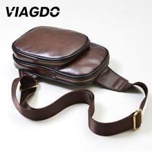 цена на Men PU Leather Crossbody Clutch Messenger Satchel Tote Purse Shoulder Chest Bag