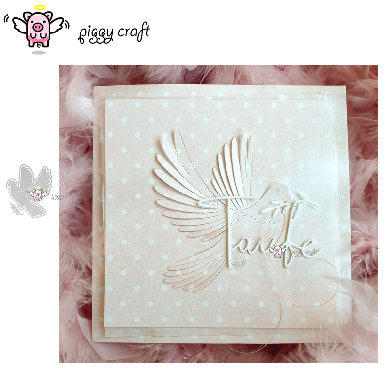 Piggy Craft Metal Cutting Dies Cut Die Mold Peace Dove Olive Branch Scrapbook Paper Craft Knife Mould Blade Punch Stencils Dies
