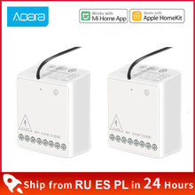 Xiaomi Aqara two-way Control Module Wireless Relay Switch Controller Smart Timer 2 Channels Work For Mijia Mi home Homekit APP