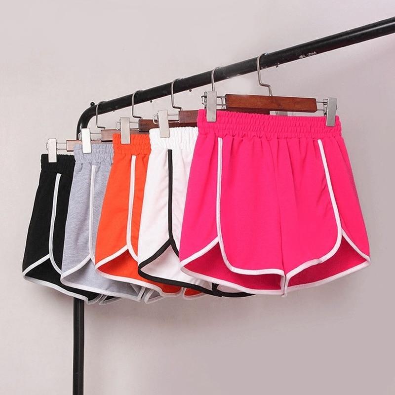 Korea 2020 Shorts Women Stylish High Waist Loose Casual Shorts Patchwork Body Fitness Workout Summer Shorts Female