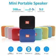 Mini Portable TG166 Bluetooth Speaker Wireless Music Subwoofer USB Speakers 3D Stereo Surround Portable Speaker Column Bass Box
