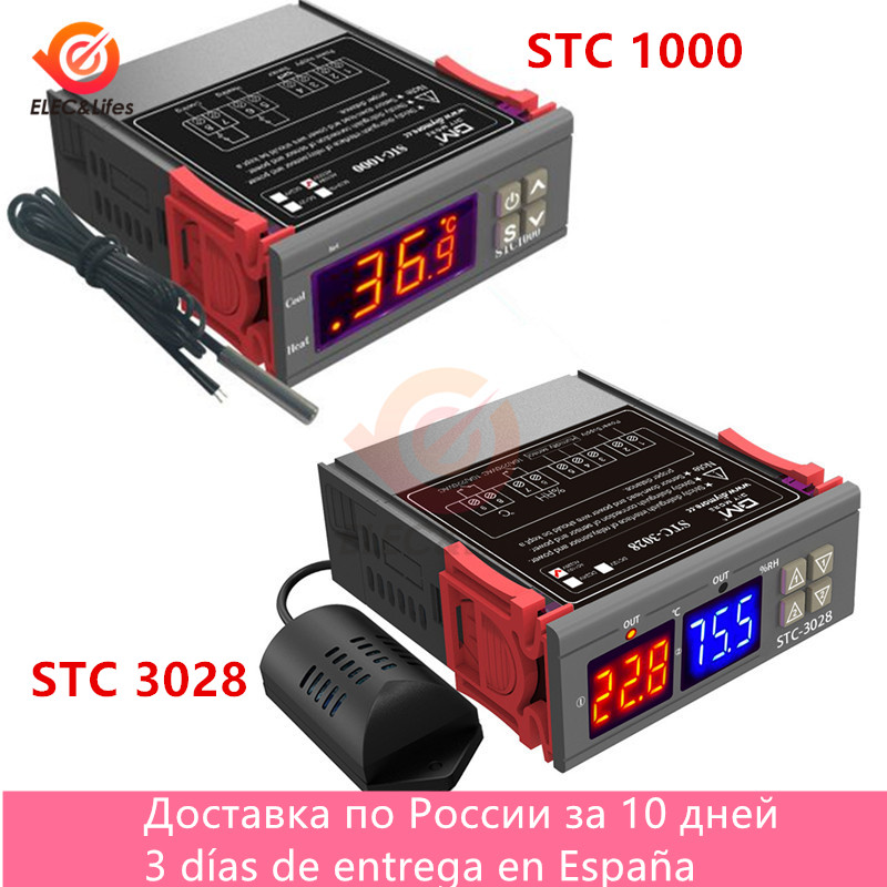 Stc 1000 stc 3028 controlador de temperatura digital STC-1000 STC-3028 termorregulador aquecimento refrigeração dc 12v ac 110v 220v