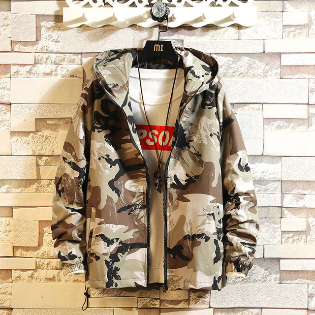 2020 new spring and autumn men's jacket camouflage Hoodie men's coat Japanese Harajuku running locomotive jacket