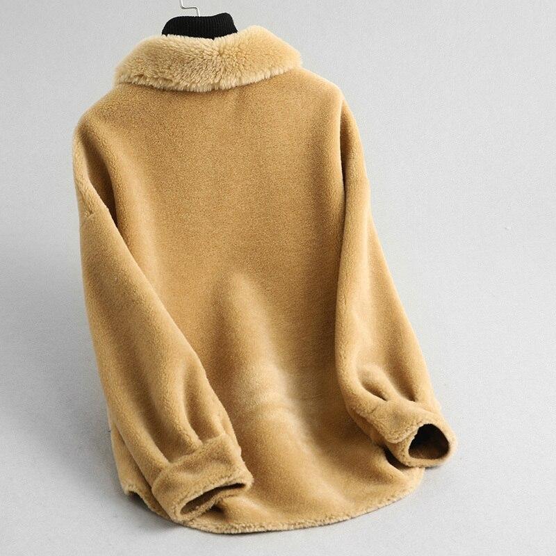 Fur Real Coat Female Jacket 2020 Autumn Winter Jacket Women Sheep Shearling Fur Coat Female Korean Real Wool Coats MY S