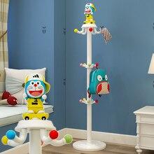 Детская стойка для одежды для спальни, мультяшная вешалка для одежды для детей