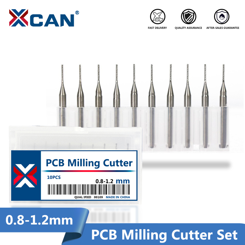 0.8mm 0.9mm 1.0mm 1.1mm 1.2mm Tungsten Steel Carbide End Mill Engraving Bits CNC Router Bit PCB Milling Cutter