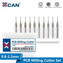 0.8mm 0.9mm 1.0mm 1.1mm 1.2mm טונגסטן פלדת קרביד סוף מיל חריטת Bits CNC נתב קצת PCB כרסום קאטר