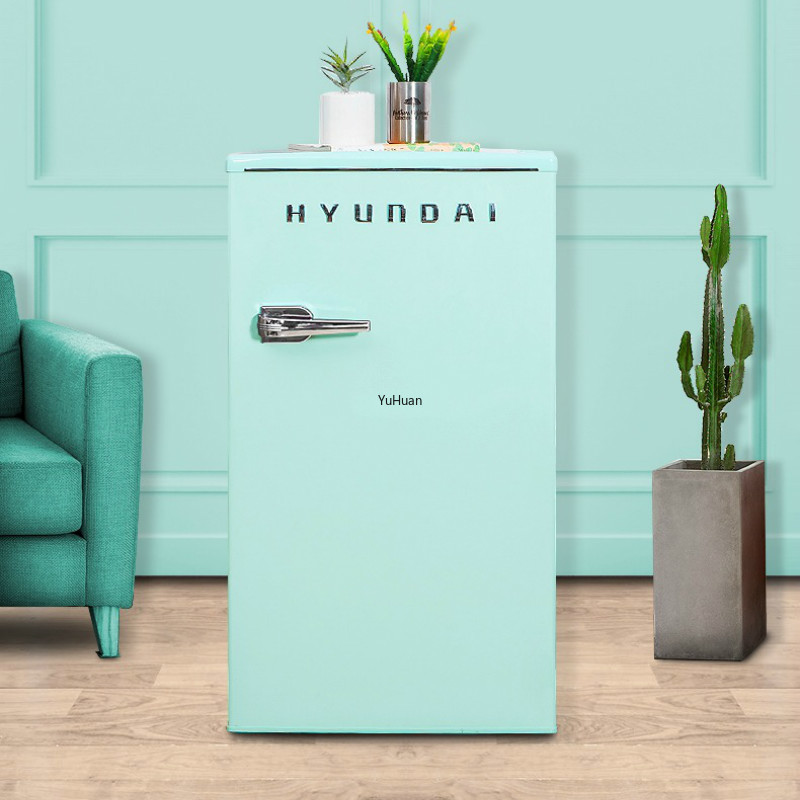86L Korean Cosmetics Mask Refrigerator Small Single Door Type Home Retro Cold Storage Tea Leaf Mini Refrigerator
