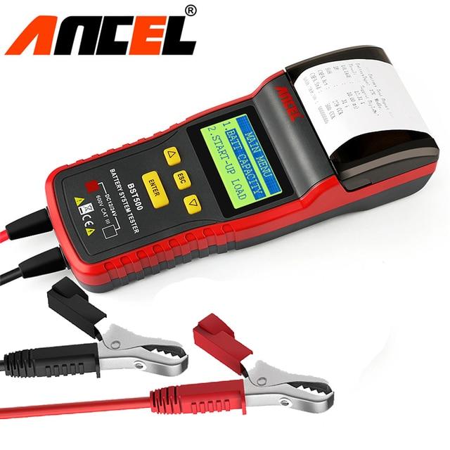 12V&24V Car Battery Tester Analyzer ANCEL BST500 With Printer for Heavy Duty Truck Car Battery Auto Maintenance diagnostic tool
