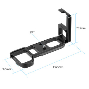 Image 5 - L Type Ball Head Quick Release Plate QR Mounting Bracket Board Mount for Sony a7II /A7R2 /A7M2 Arca Tripod Camera Spare Parts