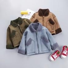 Зимняя одежда для мальчиков и девочек от 0 до 5 лет г., повседневный теплый милый детский костюм с героями мультфильмов детская одежда, куртка, верхняя одежда, пальто