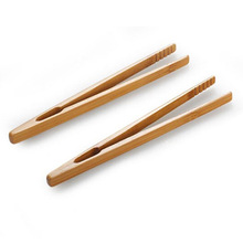 2pcs/lot Bamboo Food Tongs Kitchen Utensils Buffet Cooking Tools Anti Heat Bread Clip Pastry Clamp Barbecue Kitchen Tongs