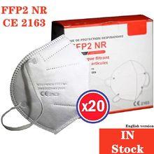 Masque luyao FFP2 NR, certifié CE Standard EN149, Protection respiratoire, haute Filtration, en Stock, livraison rapide, boîte