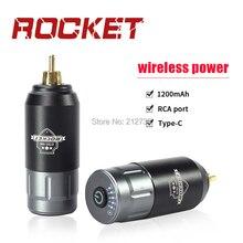 أحدث الوشم قوة لاسلكية صغيرة رمادي أسود للوشم ماكينة دوارة القلم RCA اتصال الوشم امدادات الطاقة شحن مجاني