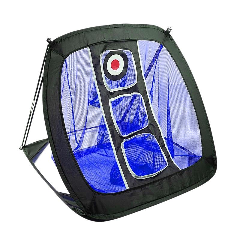 Nylon Golf Practice Net Golf Cutter Net Portable Golf Practice Net Blue+Black
