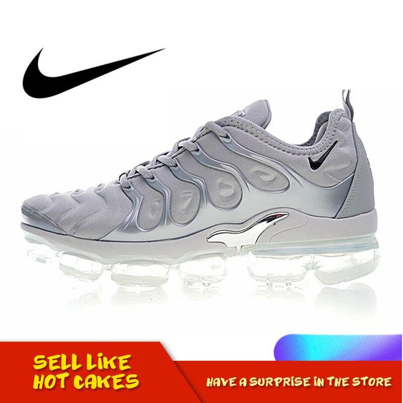 Original Authentic NIKE AIR VAPORMAX PLUS Men's Running Shoes Lightweight Shock Absorption Athletic Designer Footwear 924453