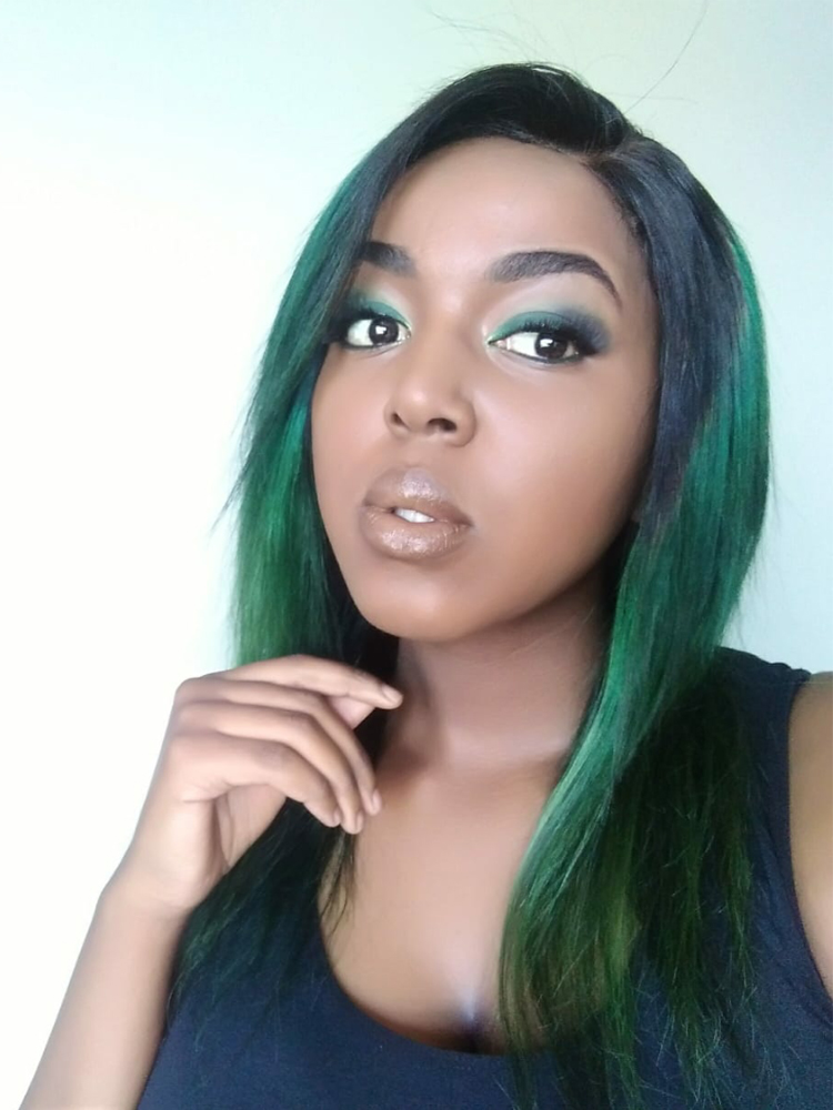 Bundles Closure Straight Brazilian with Ombre Middle-Ratio Non-Remy