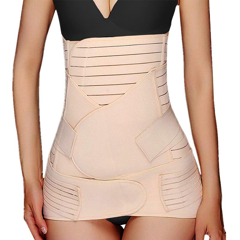 Twinso 3 in 1 Postpartum Belly Belt Tummy Band Girdle Corset Body Shaper Postnatal C-Section Waist Trainer Pelvis Wrap Shapewear