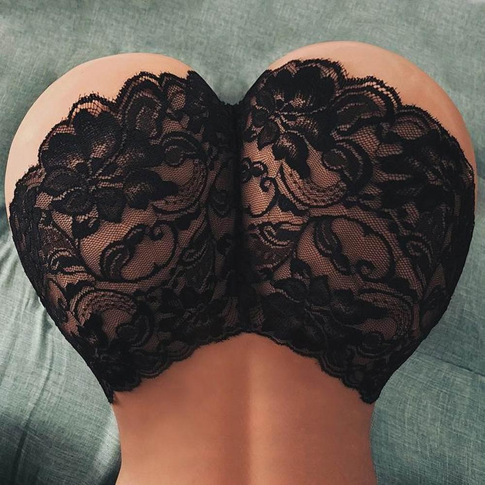 Women Sexy Lingerie Lace Underwear Floral Lace Sexy Elastic Waist See Through Seamless Underwear Panties 2 Colors
