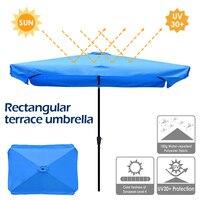 Retângulo pátio guarda-chuva dossel substituição impermeável tecido de poliéster ao ar livre proteção uv tabela sunbrella capa