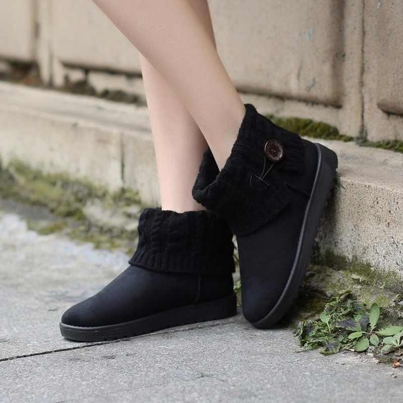 Kadın botları kış sıcak kar botları kadın Faux süet yarım çizmeler kadın kış ayakkabı Botas Mujer peluş ayakkabı kadın GY-65