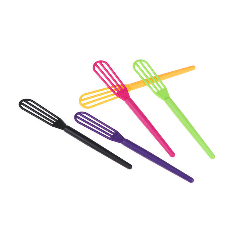 5pcs/pack Hairdressing Dye Cream Whisk Plastic Hair Mixer Barber Stirrer Hair Care Styling Tools Blender Random Color