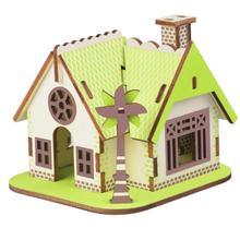 1 Набор 3D DIY Дом головоломка Деревенский Дом Забавный Развивающие деревянные строительные игрушки для детей Рождественский подарок