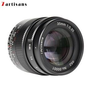Image 4 - 7 Ambachtslieden 35Mm F0.95 Grote Diafragma Portret Lens Voor Sony E/Fuji/Canon Eos M/nikon Z/M43 Mount Mirrorless Camera Gratis Verzending