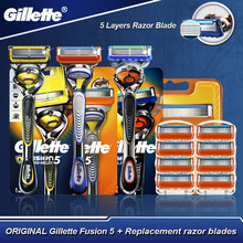 Gillette Fusion 5 Original Fusion Proglide Proshield Shaving Safety Razor With Replaceable Blades Cassettes For Men Hot
