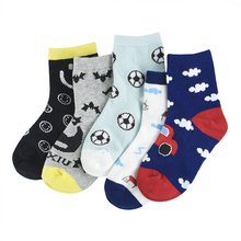 Baby-Girls Socks Cartoon-Pattern Cotton 5pairs/Lot Unisex Soft for 1-10Y Breathable Boy