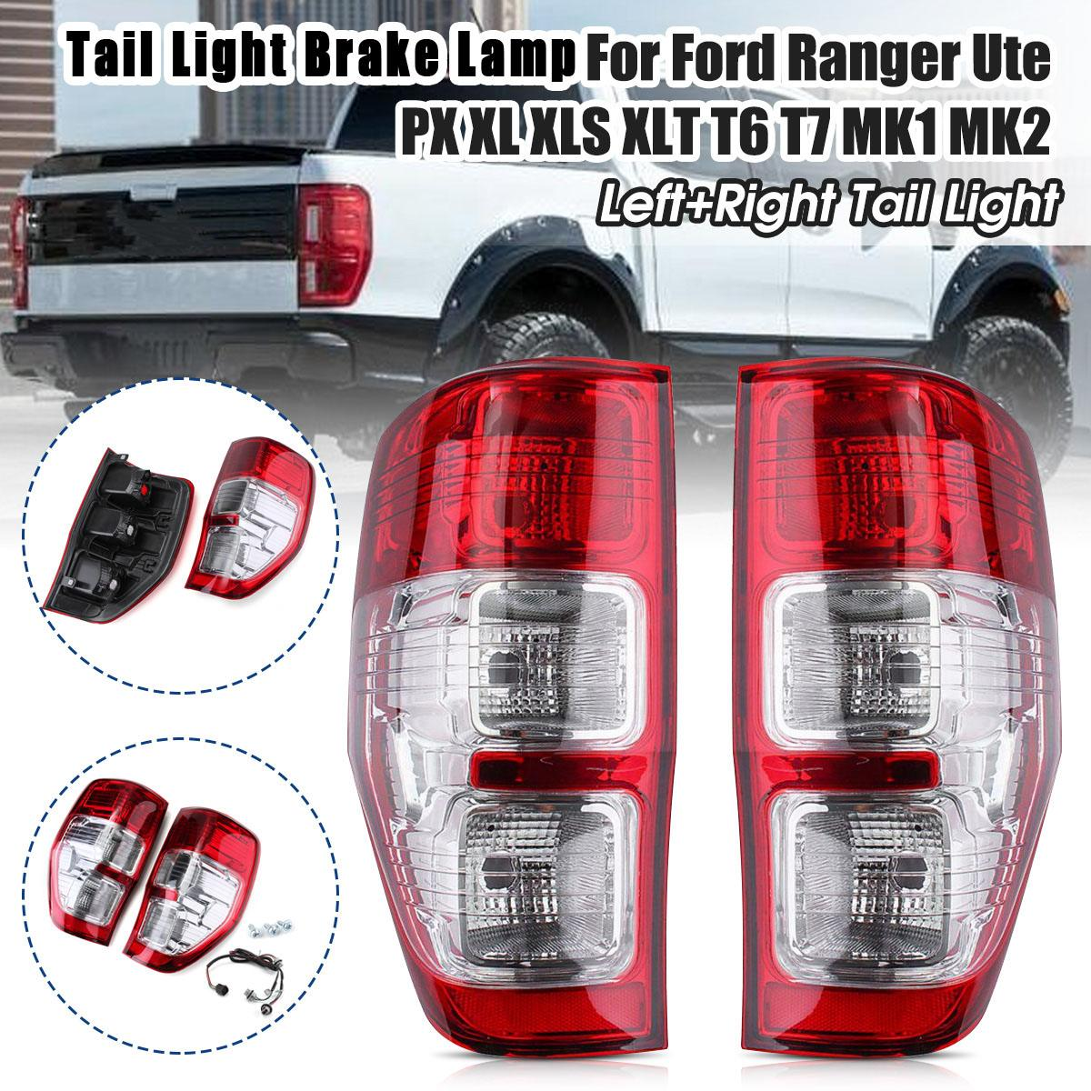 Pair Left/Right Tail Light Brake Lamp For Ford Ranger Ute PX XL XLS XLT 2011 2012 2013 2014 2015 2016 17-2020 With Wire Harness