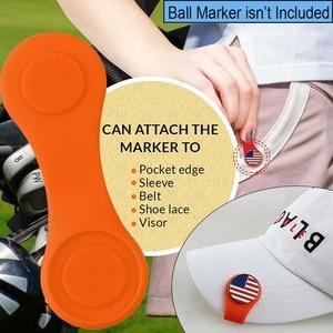 Image 5 - Clip de silicona para sombrero de Golf, marcador de bola con fuerte fijación magnética a tu Borde de bolsillo, cinturón, regalo de ropa