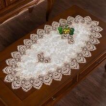 Современная Дамасская вышивка овальная скатерть Декоративная