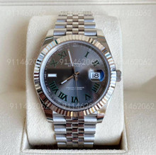 Luxo masculino 41mm automático relógios mecânicos datejust safira cristal relógio de pulso nenhuma bateria 316l aço inoxidável relógio