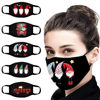 1pc Mouth Masks for Dust' Protection Anti-Face Mask Washable Earloop Outdoor Christmas Theme Print Party Anti-spitting Mask image