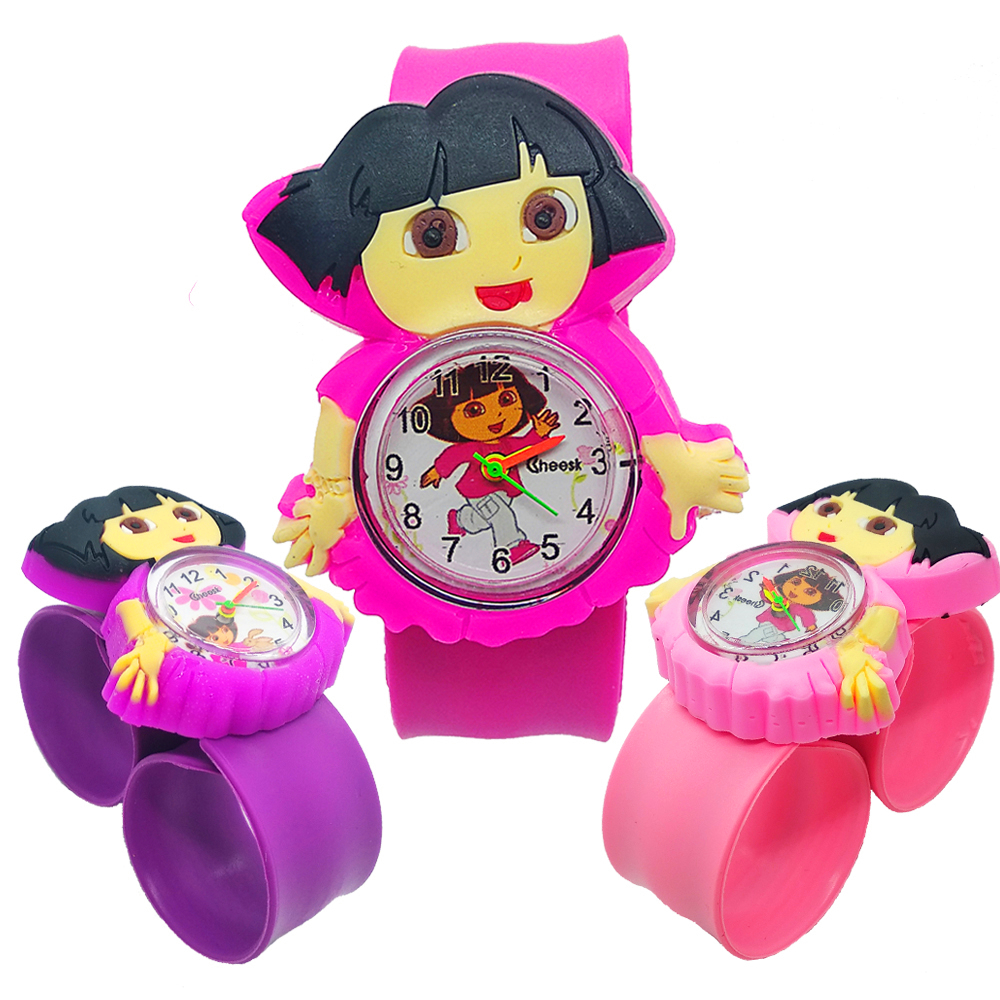 Children Watch Dora Princess Pattern Girls Watches Kids Style Bracelet Digital Quartz Child Students Clock Rubber Kids Watches