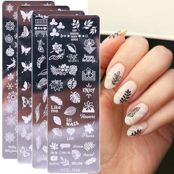 1pcs Nail Stamping Plates Flower Leaf Geometry Animals Image Stamp Templates Dreamcatch Manicure Print Stencil Tools LYSTZN01-12 1